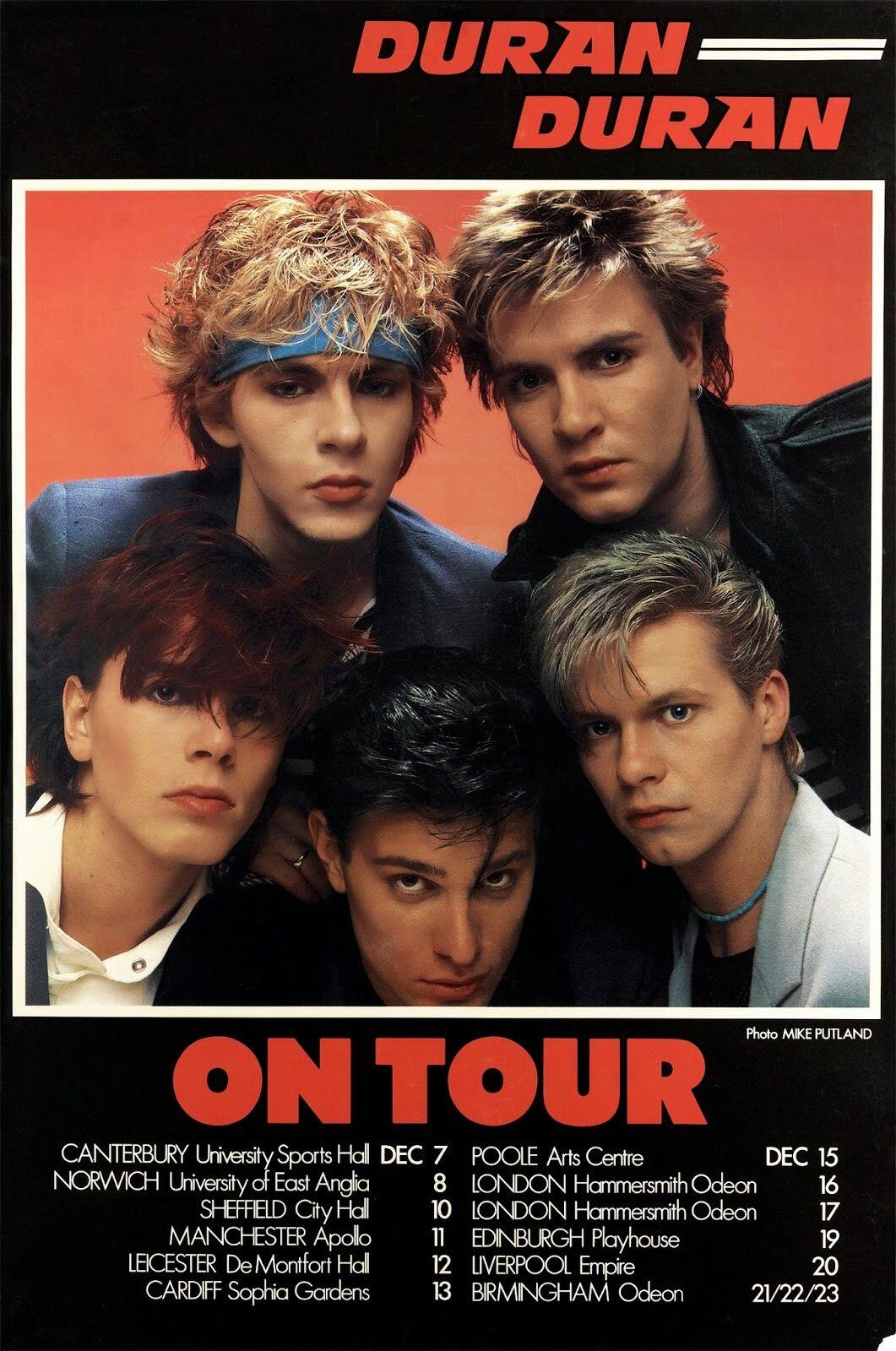 DURAN DURAN ON TOUR 1982 UK CONCERT POSTER-New Wave, Synthpop,Dance-rock Music - $11.99