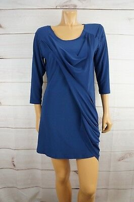 SYMPLI The Best Size 12 Medium Dress Royal Blue Drape Side Sash Canada