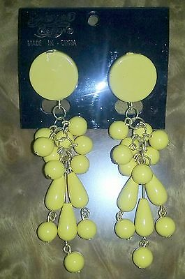 Fairland Creation Tropical Party Theme Yellow Costume Dangle Earrings](Tropical Themed Costume)