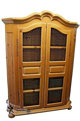 Solid Pine Furniture Wardrobe Armoire Cabinet Dresser by Garcia Imports Designer Bedroom Solid Pine Armoire