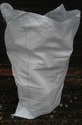 500 Strong  Woven Rubble Sacks Bags Heavy Duty Strong Sacks 2 ft x 3ft, White