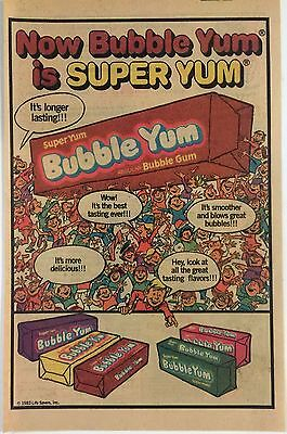 1982 Bubble Yum Ad (Front), Columbia Space Shuttle Rocket Kit (Back)