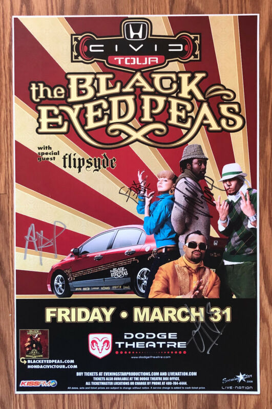 The Black Eyed Peas Poster Signed In Person 2006