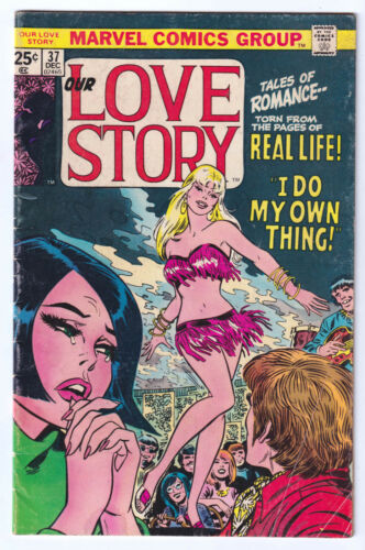 OUR LOVE STORY 37 (1975 Marel) John Romita Go-Go Girl GGA; VG/FN 5.0