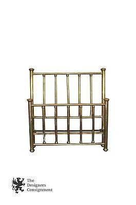 Antique Brass Headboard & Footboard Victorian Style Bed Aged Patina Full (Brass Full Size Footboard)