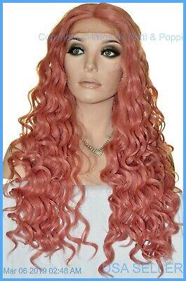 LONG WAVY COSTUME WIG HALLOWEEN PARTIES FANTASY *CLR DARK PINK  1327 - Long Pink Halloween Wig