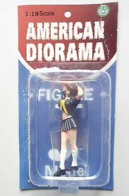 "NAOMI IN BLACK AMERICAN DIORAMA 1:18 Scale Figurine 3.25"" Female LADY Figure"