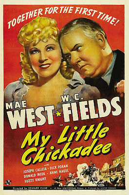 "16mm ""MY LITTLE CHICKADEE"" FEATURE (1940) W.C. FIELDS AND MAE WEST - CLASSIC"