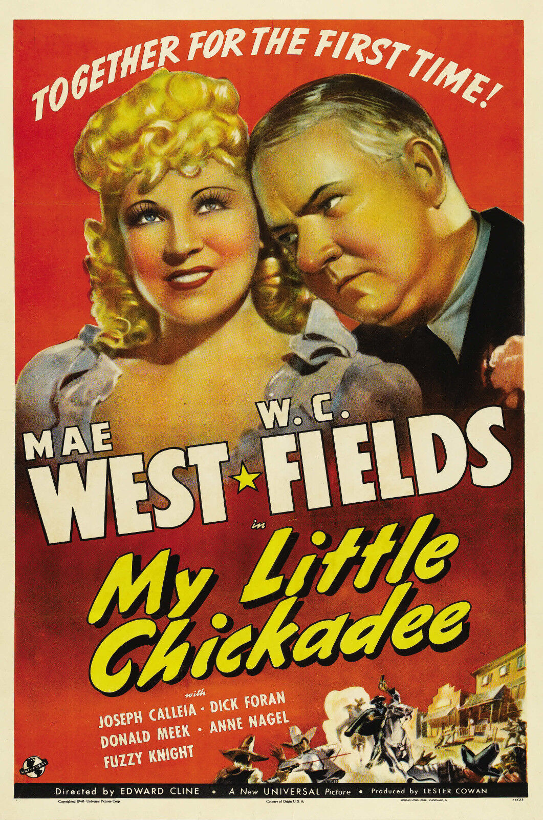 """16mm """"MY LITTLE CHICKADEE"""" FEATURE (1940) W.C. FIELDS AND MAE WEST - CLASSIC"""