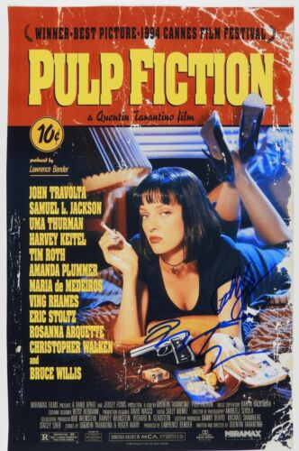 Pulp Fiction Quentin Tarantino Autograph Signed Photo JSA 12 x 18