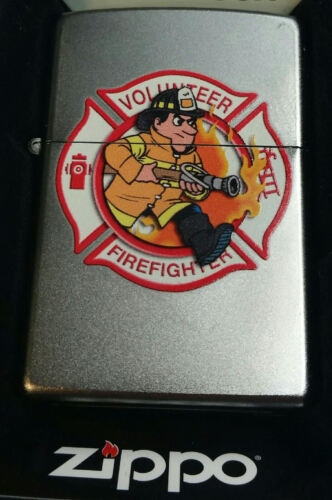 Zippo Lighter Volunteer Firefighter Fire Department Limited Edition NEW IN BOX