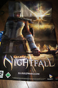 Guildwars Nightfall with poster pc game only cd2 disc cd-rom guild wars deutsch - wielkopolska, Polska - Guildwars Nightfall with poster pc game only cd2 disc cd-rom guild wars deutsch - wielkopolska, Polska