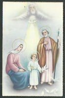Postal Antigua De La Sagrada Familia Andachtsbild Santino Holy Card Santini -  - ebay.es
