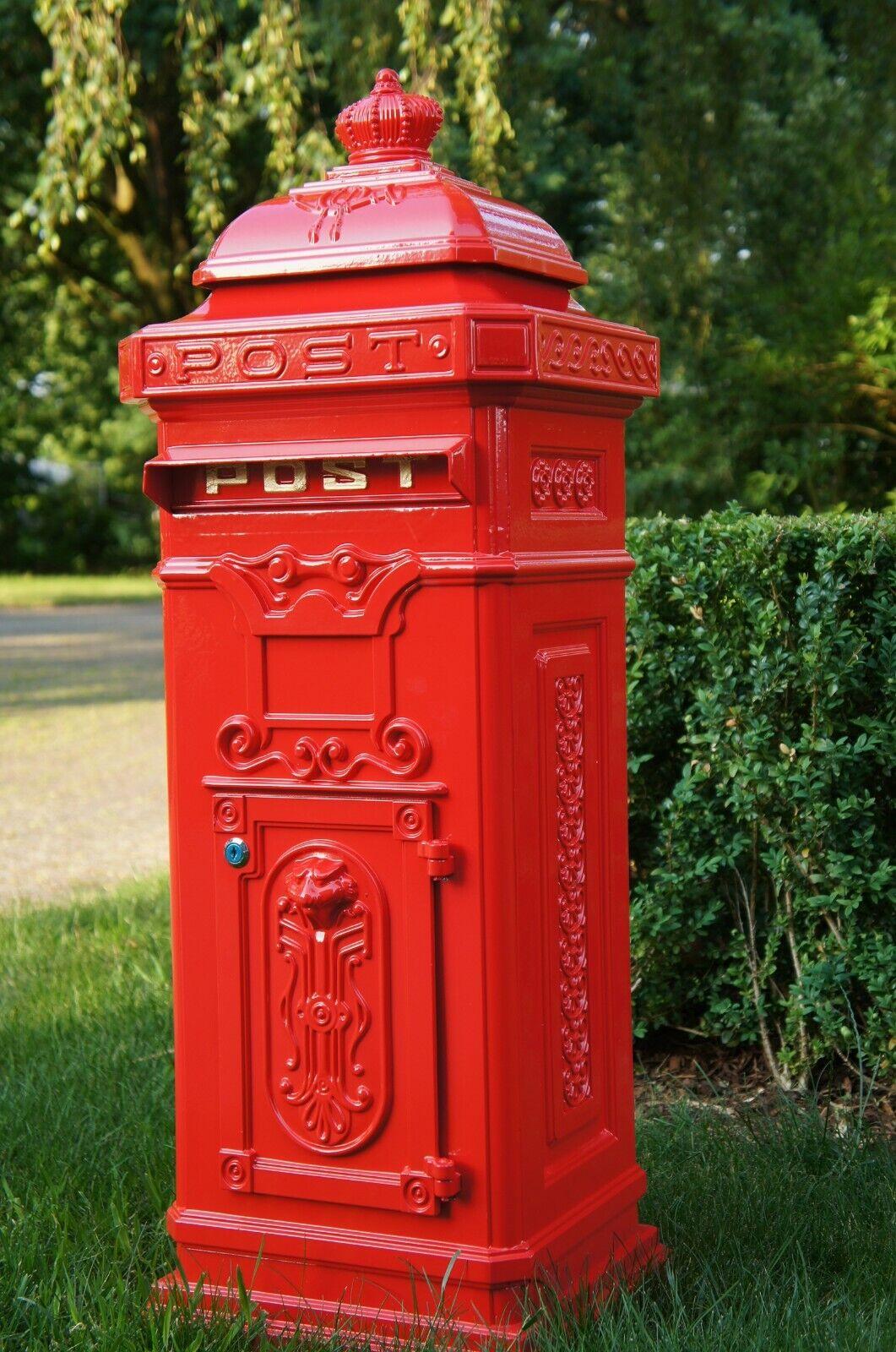 Standbriefkasten Briefkasten Postkasten Säulenbriefkasten Post Retro Aluminium