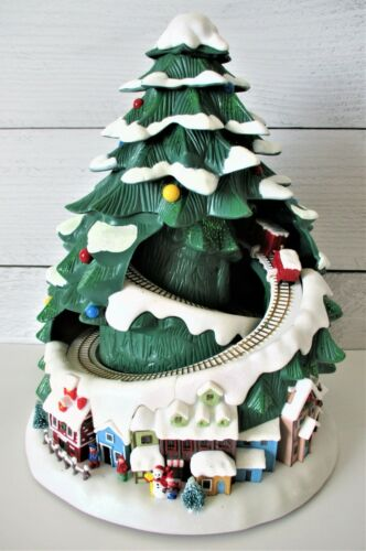 Avon 2007 Lighted Christmas Music Holiday Tree With Train Brand NEW VHTF RARE