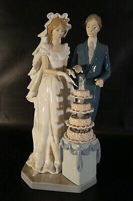 LLadro 5587 Wedding Day Cake Bride Groom Large 13