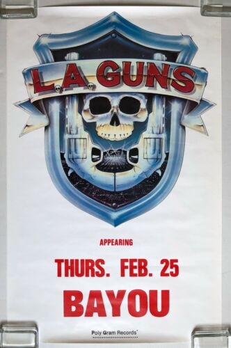 L.A. GUNS The Bayou Washington DC 1988 Live Concert Promo POSTER Tracii METAL