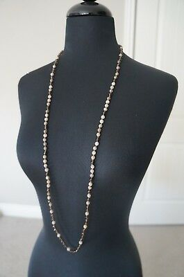 - NEW Chan Luu Swarovski Crystal Agate Semi Precious Stone Long Short Necklace
