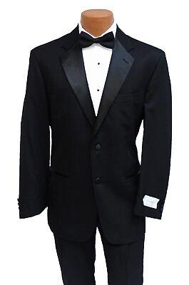 Formale Tuxedo Jacket (40S New Classic Black Tuxedo Jacket & Pant Suit Prom Wedding Formal Gala Tux)