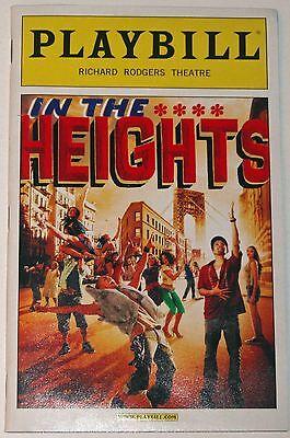 In The Heights Broadway Playbill, Opening Night Date, Lin-Manuel Miranda