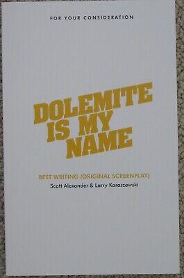 DOLEMITE IS MY NAME FYC 2019 BEST ORIGINAL SCREENPLAY SCRIPT SCOTT ALEXANDER
