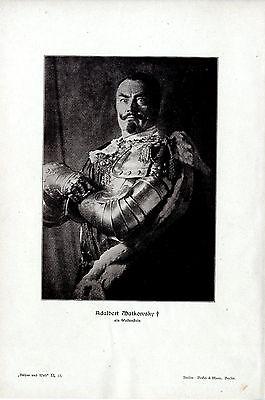 Zum Tode des deutschen Schauspielers Adalbert Matkowsky (Wallenstein) v.1909