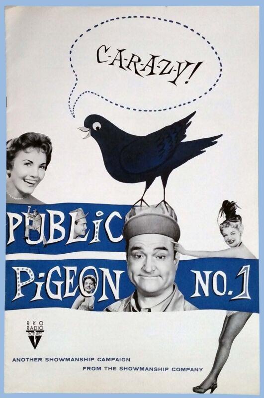 VINTAGE - PUBLIC PIGEON No. 1 - ORIGINAL RKO PRESSBOOK - 1955 - RED SKELTON