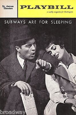 """Carol Lawrence (Signed) """"SUBWAYS ARE FOR SLEEPING"""" Comden & Green 1962 Playbill"""