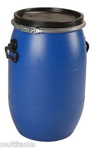 bidon 60 litres 60l jerrycan fut baril plastique alimentaire ouverture totale ebay. Black Bedroom Furniture Sets. Home Design Ideas