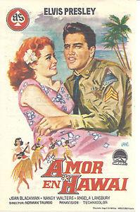 ELVIS-PRESLEY-Vintage-1964-Spain-Herald-Mini-Ad-Poster-BLUE-HAWAII-Joan-Blackman