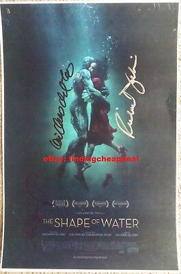 THE SHAPE OF WATER MOVIE SIGNED REPRINT POSTER GUILLERMO DEL TORO+DESPLAT+JENKIN