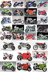 Tamiya-bike-1-12-scale-Motorbike-Motorcycle-Plastic-Model-Kits-Various-models