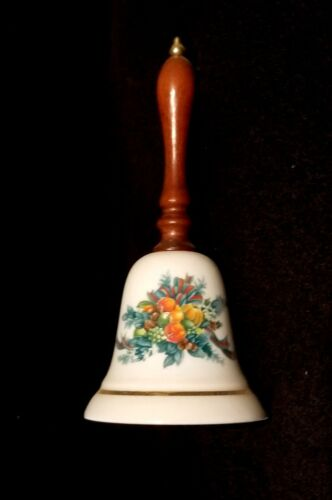 Vintage 1985 Avon Christmas Harvest Porcelain Bell
