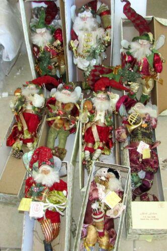 9 MARK ROBERTS CHRISTMAS SANTA FAIRY FAIRIES BOXED LIMITED EDITIONS RETIRED
