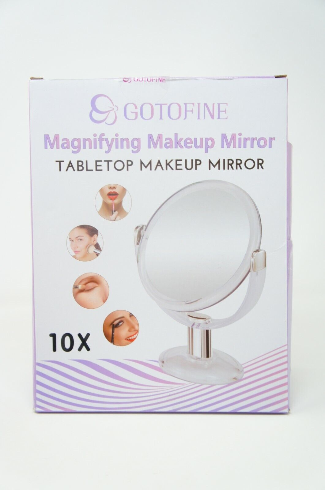 dw double sided magnifying makeup mirror 1x
