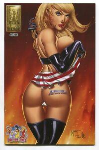 Patriotika #1 Battle Chasers Red Monika Homage Variant Cover Marat Mychaels /100