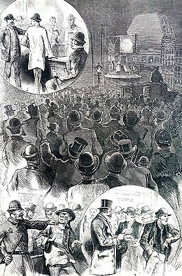 Election Day 1884 American Popular Sovereign Voter Bribery Challenge Vote Police