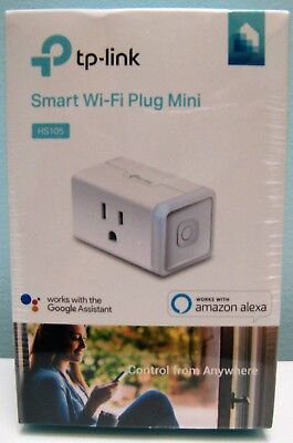 TP-LINK SMART PLUG MINI ( HS105 ) , WORKS WITH ALEXA AND GOOGLE HOME , NEW