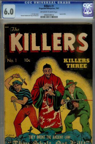 Killers #1 CGC 6.0- CLASSIC LB COLE COVER- 1947 SOTI CRIME BOOK