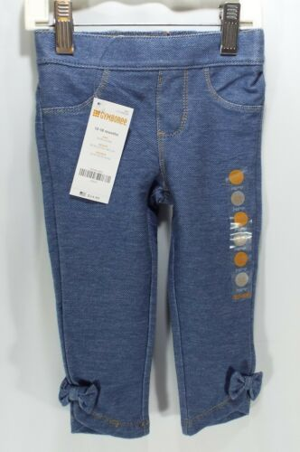 Gymboree Girls Jeggings Denim Jeans Stretch With Bow Ankle Accent NEW NWT