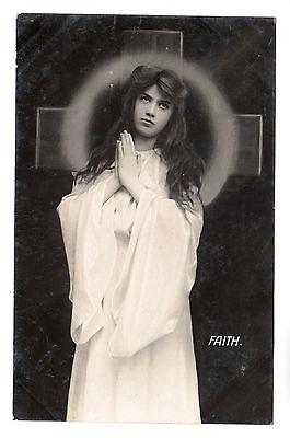 Faith - Real Photo Postcard 1906 / Religious