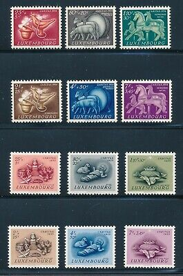 Luxembourg B180-91 1954-55 Christmas Toys semipostal sets NH ()