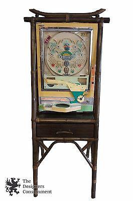 Vintage Nishijin Sophia Japanese Pachinko Slot Arcade Machine W/ Bamboo Stand