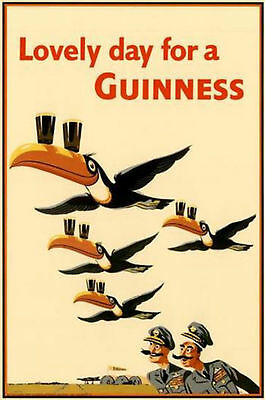 Flying Metal Sign (Classic Vintage Flying Guinness Metal Sign Retro Various Sizes FREE POSTAGE)