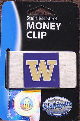 College Money Clip Washington Huskies