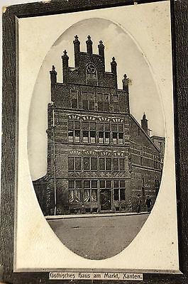 Ansichtskarte, Xanten - Gothisches Haus am Markt, gestempelt 1912
