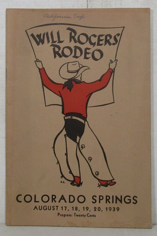 1939 Will Rogers Rodeo program, Colorado Springs