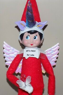 CHRISTMAS ELF PROPS UNICORN HORN FAIRY WINGS COSTUME ACCESSORY ON THE SHELF TOYS ()