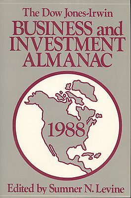 The Dow Jones Irwin Business And Investment Almanac  1988  1988  Paperback