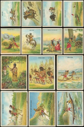 1910 t73 Indian Life In the 1860s Lot of *14* Diff. Cards POOR/GOOD/VG *AA-12126